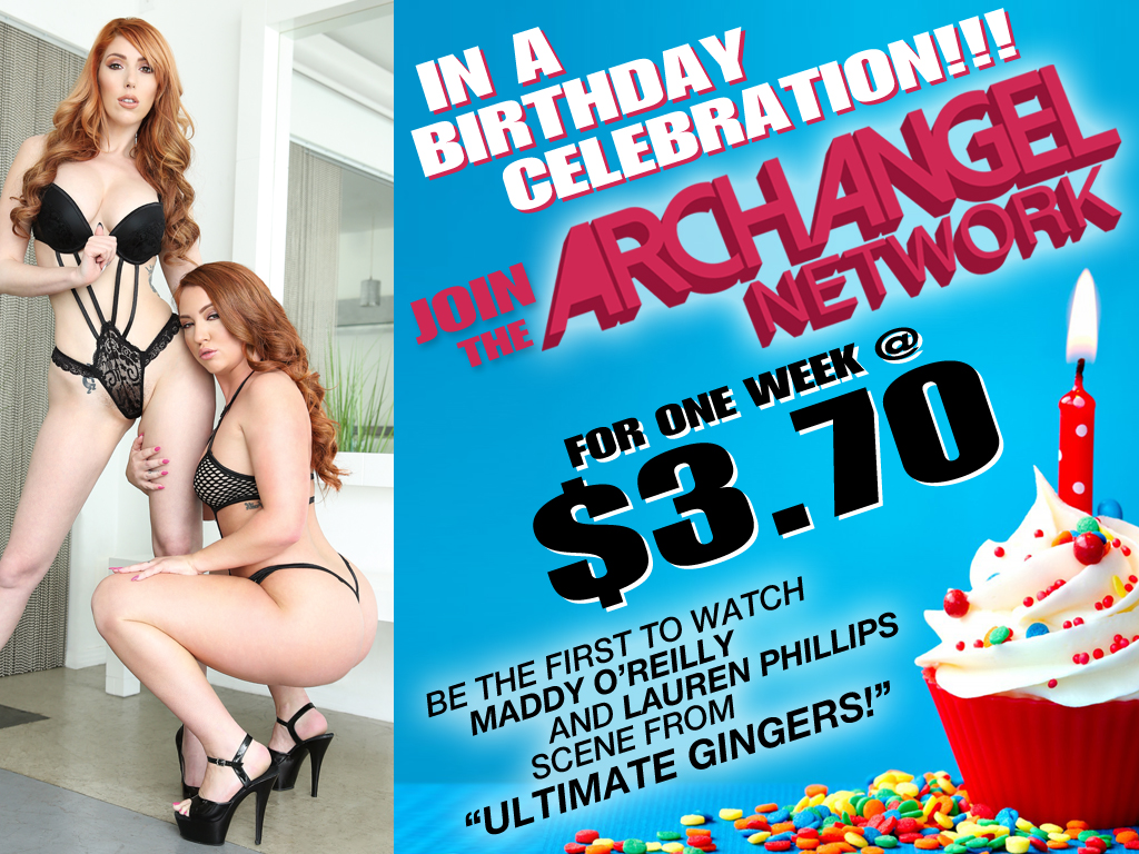 Watch Maddy O'Reilly and Lauren Phillips Scene From ARCHANGEL's Ultimate Gingers Now For $3.70